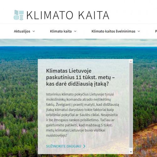 Aplinkos ministerija kuria interaktyvų portalą apie klimato kaitą